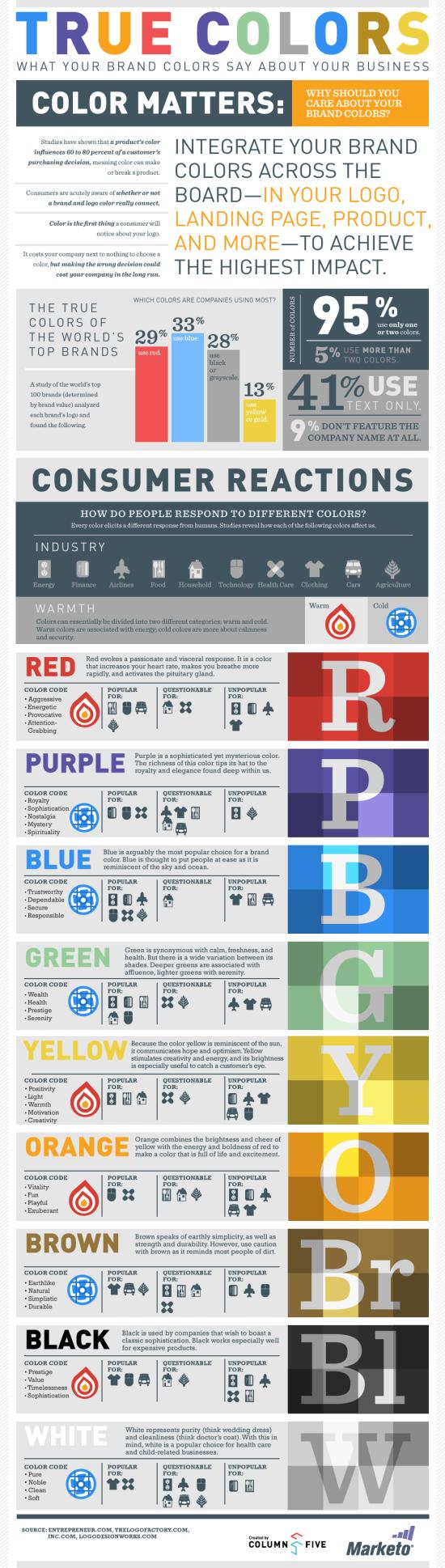 Barvy - infografika