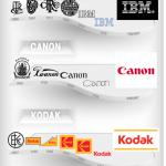 Vývoj známých logotypů – infografika