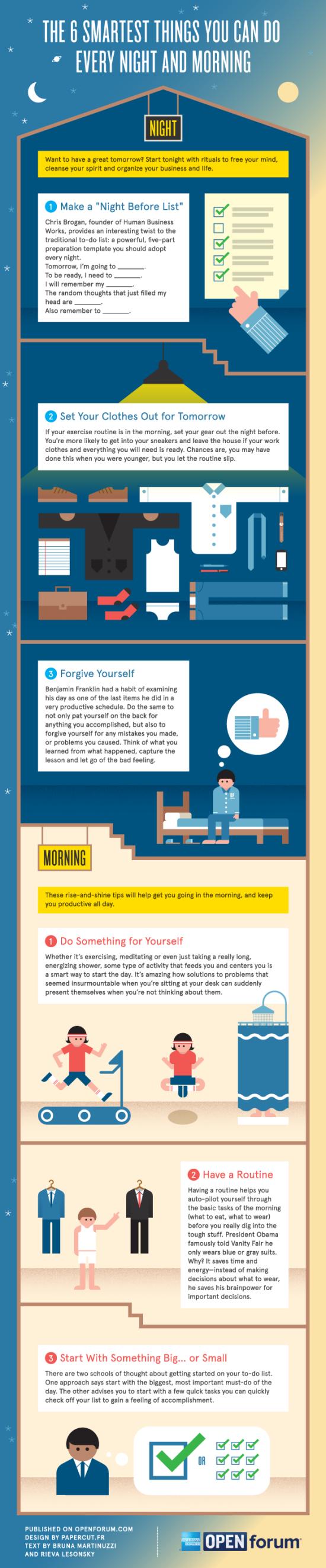 6 nejchytřejších věcí, které můžete dělat každý večer a ráno