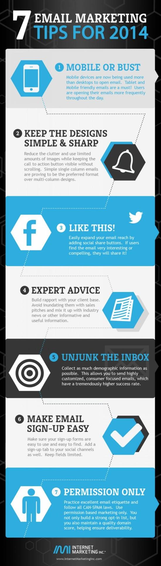 7 e-mail marketingových tipů pro rok 2014 - infografika