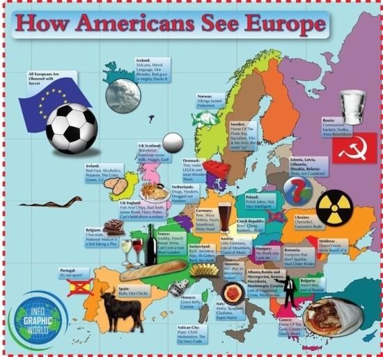 Jak Američané vidí Evropu - infografika