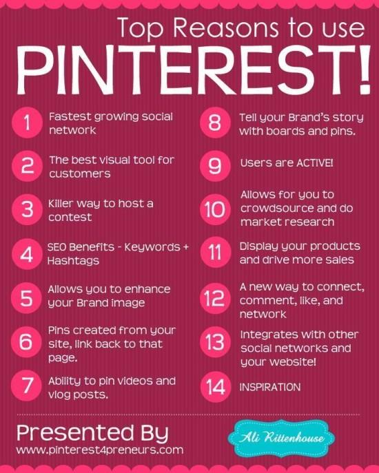 Proč používat Pinterest - infografika