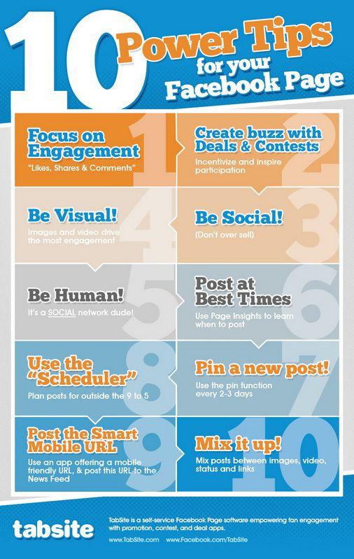 10 tipu pro vasi Facebook stranku - infografika