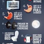 10 tipů pro lepší spánek – infografika