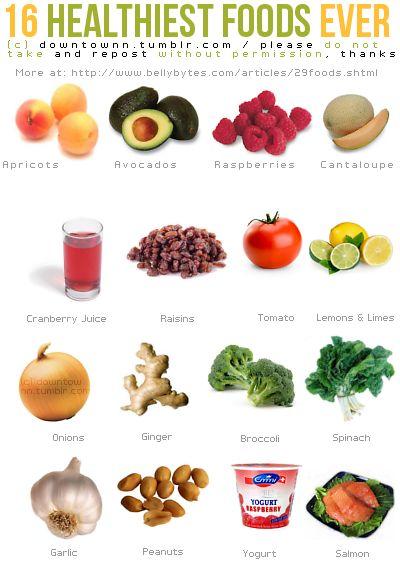 16 nejzdravejsich potravin pod sluncem - infografika
