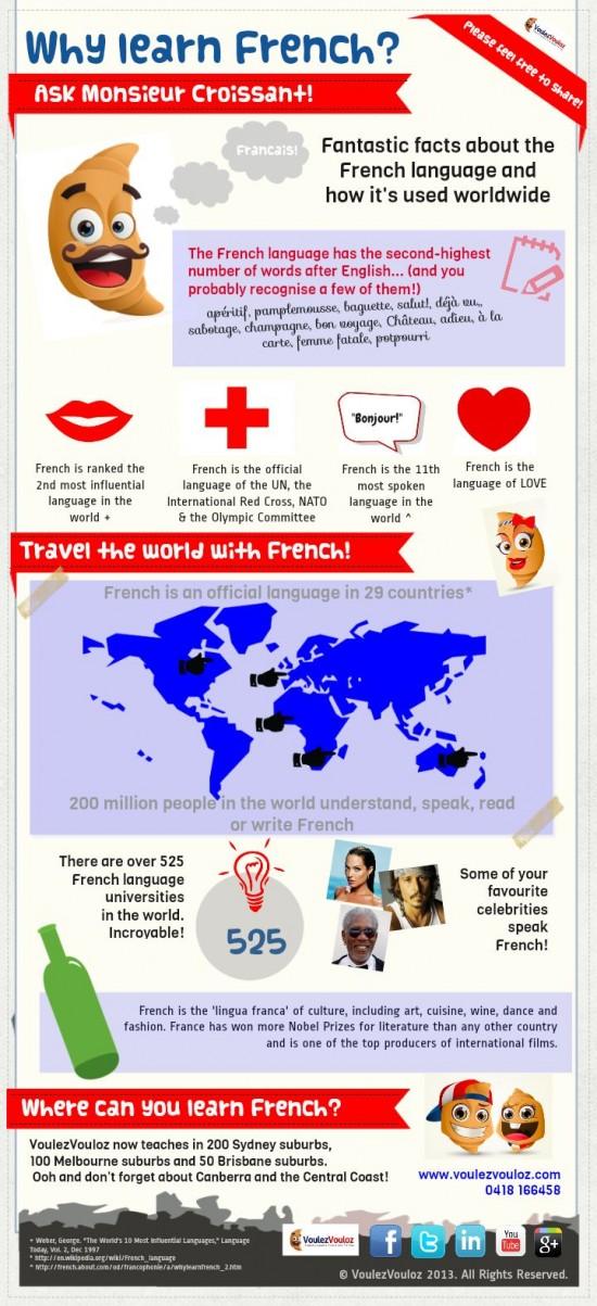 Proc se ucit francouzstinu - infografika