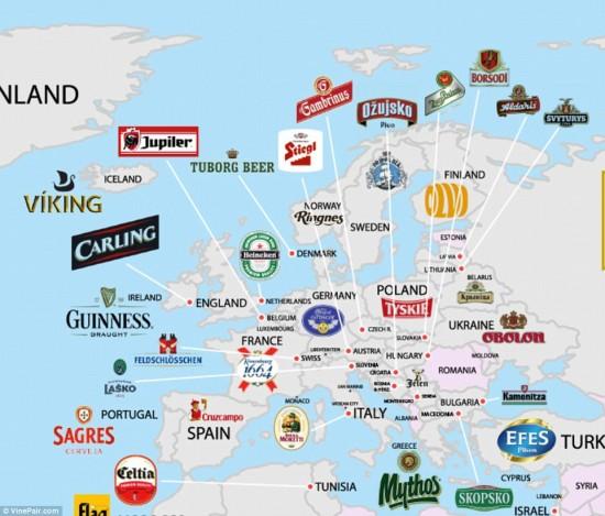 nejoblíbenější značky piva evropa