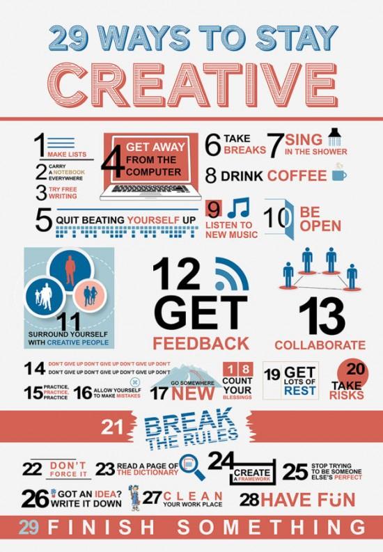jak zůstat kreativní